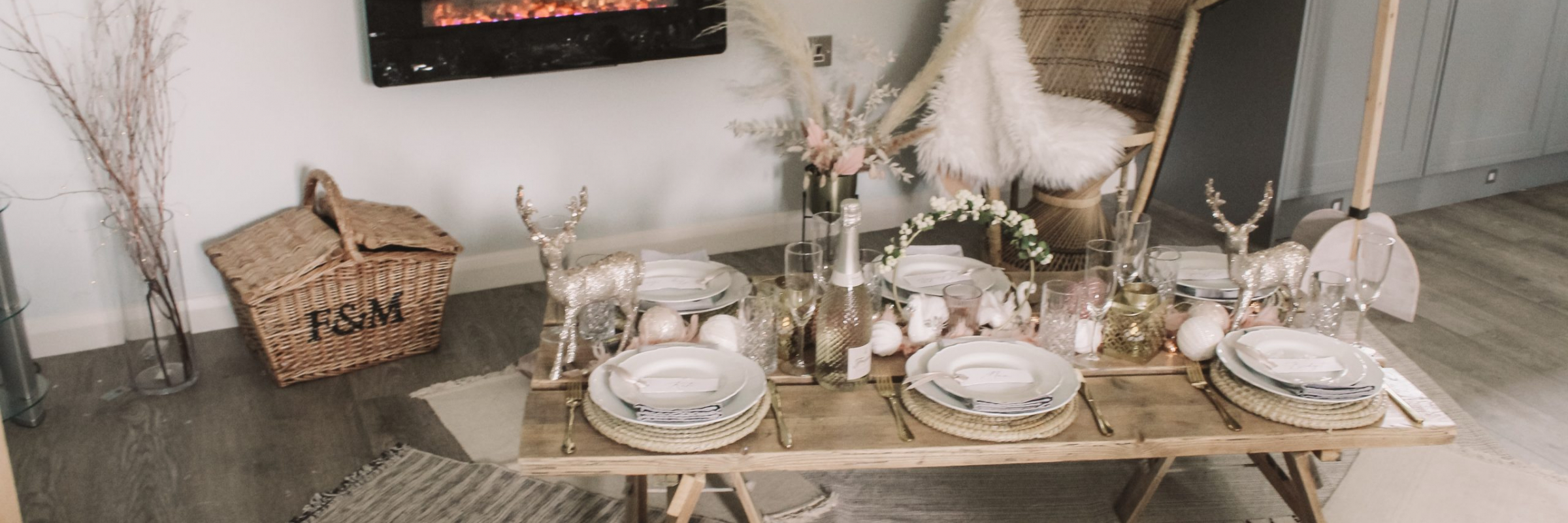 Festive family picnic party inspiration from www.pitch-boutique.co.uk - featuring reclaimed wooden tables, themed soft furnishings, peacock chairs, artisan florals and grazing tables!