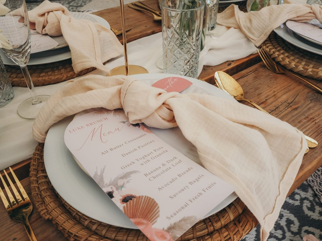 Stylish bohemian party inspiration from www.pitch-boutique.co.uk - featuring our gorgeous boho marquee and ultra luxe picnic or dining experience!
